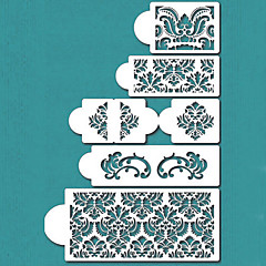 Damask Cake Stencil Set, Cake Border Stencils Set,Cake Side Design Stencil,ST-198