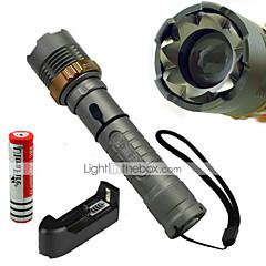 LT 5 5 Läge 1200 Lumen LED-Ficklampor 18650 Vattentät / Laddningsbar / Stöttålig / Strike Bezel / Taktisk / Nödsituation LED Cree XM-L T6