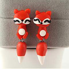 HUALUO®Creative Handmade Clay Animal Fox Earrings