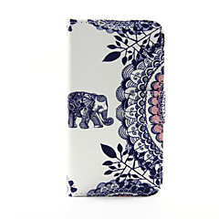 For Samsung Galaxy etui Pung / Kortholder / Med stativ / Flip Etui Heldækkende Etui Elefant Kunstlæder Samsung S5 / S4 / S3