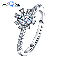 New  Luxurious Party Accessories 925-Sterling-Silver White Cubic Zirconia Rings For Women