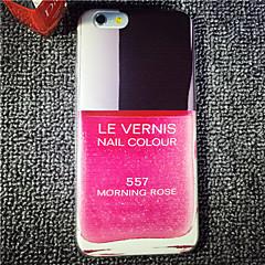 rode parfumfles patroon schilderij TPU zachte achterkant van de behuizing voor de iPhone 6 / 6s