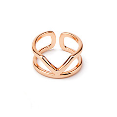 Women's Casual 18K Rose Gold Plated Ring