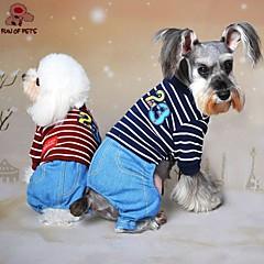 Perros / Gatos Abrigos / Pantalones Rojo / Azul / Gris Invierno Letra y Número / Rayas Boda / Cosplay