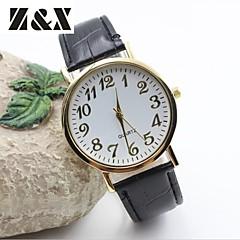 Mujer Reloj de Moda Cuarzo Piel Banda Negro / Blanco / Azul / Marrón Marca-