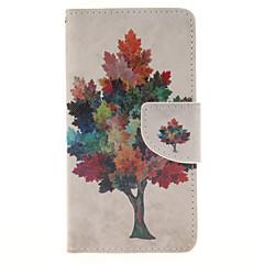 Για Samsung Galaxy Θήκη Θήκη καρτών / με βάση στήριξης / Ανοιγόμενη / Μαγνητική / Με σχέδια tok Πλήρης κάλυψη tok Δέντρο Συνθετικό δέρμα