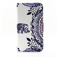 Na Samsung Galaxy Etui Etui na karty / Z podpórką / Flip / Wzór / Magnetyczne Kılıf Futerał Kılıf Słoń Skóra PU Samsung A5 / A3