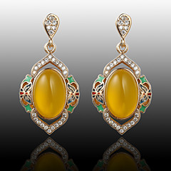 European  fashion vintage drop earrings Micro Pave beeswax Drop Earrings Wedding / Party / Daily / Casual 2pcs
