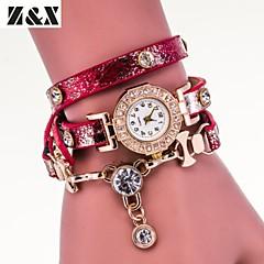 Women's Fashion Personality Quartz  Leather Analog Rhinestone Wrist Watch(Assorted Colors)