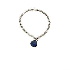 Fashion Women Metal Bead With Semi-Precious Pendant Bracelet