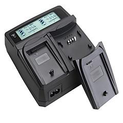 LCD 디스플레이와 lvsun® 캠코더 듀얼 충전기는 빠른 캐논 EOS에 대한 충전