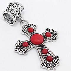 Fashion Vintage Anti-Ailver Trendy Diamond Cross Tophus Scarf Buckle or Pendant