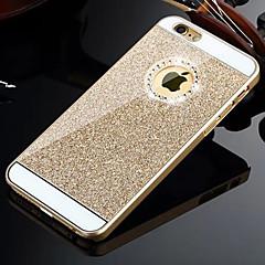 hzbyc®solid luksus bling glitter bakdekselet tilfelle med diamant for iPhone 4 / 4S (assorterte farger)
