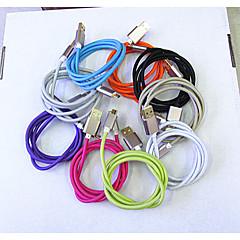 metal flettet line samsung micro usb fed lodtrækning modstand ledningsføring hurtig opladning linje 9 farver 1m universelle USB-kabler