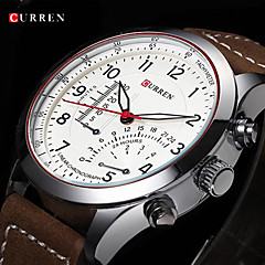 CURREN® Men's Aviator Design Military Watch Japanese Quartz Leather Strap
