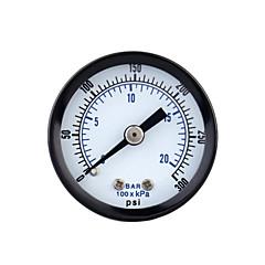 0-20bar 0-300psi Mini Dial Air Pressure Gauge Meter Piezometer Double Scale