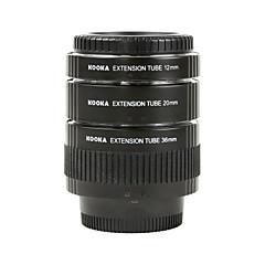 laiton d'électrodéposition macro af tubes d'extension kooka kk-N68 pour Nikon (12mm 20mm 36mm) Les appareils photo reflex
