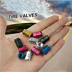 4Pcs/lot Universal Auto Bicycle Car Tire Valve Caps Tyre Wheel Hexagonal Ventile Air Stems Cover Airtight Rims