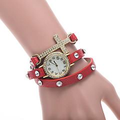 Women's Watch L.WEST Fashion Three Times The Cross Diamonds Belt Quartz Watch Cool Watches Unique Watches