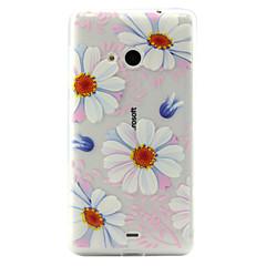 Voor Nokia hoesje Transparant hoesje Achterkantje hoesje Bloem Zacht TPU Nokia Nokia Lumia 535
