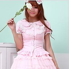 Bluz/Gömlek Sweet Lolita Pembe Siyah Beyaz Lolita Aksesuarları İçin FRP