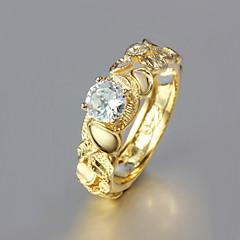 Kadın Evlilik Yüzükleri kostüm takısı Altın Kaplama 18K altın Mücevher Uyumluluk Düğün Parti Günlük
