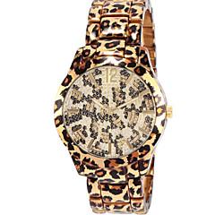 Dame Modeur Quartz Kronograf Rustfrit stål Bånd Leopard Guld Rose Guld Gylden Rose Guld