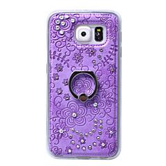 Mert Samsung Galaxy tok Strassz / Tartó gyűrű Case Hátlap Case Virág TPU Samsung S6 edge plus / S6 edge / S6 / S5