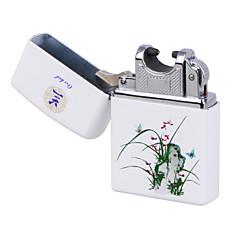 bleu&porcelaine blanche charge d'impulsion de l'arc léger usb orchidée léger ultra-mince cigarette électronique coupe-vent&blanc