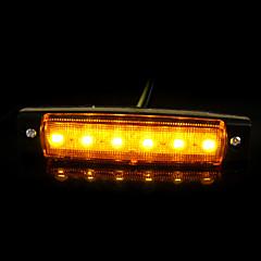 12V 6LED Car Trucks Trailer Lorries Side Marker Indicator Light Len Sidelamp New
