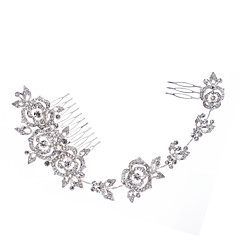 Long Hairpins Flower Hair Combs Rhinestone Crystals Hair Clips Wedding Hair Jewelry Accessories