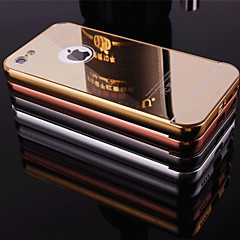 Plating Mirror Back with Metal Frame Phone Case for iPhone 6s 6 Plus SE 5s 5c 5