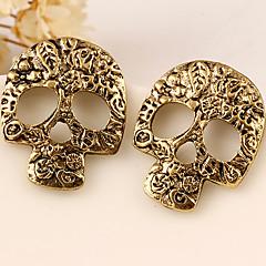 Kolczyki na sztyft Modny Osobiste Europejski Stop Skull shape Silver Golden Biżuteria Na Impreza Halloween Codzienny Casual 2pcs