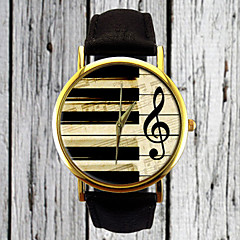 Piano Keys G Clef Watch Leather Watch Women's Watch Men's Watch Gift for Her Gift Idea Custom Watch Musician Cool Watches Unique Watches