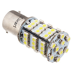2stk 1156 BA15S 3.25W 216LM 54x3528SMD 6000K Cool White Light LED bil pære (12V)