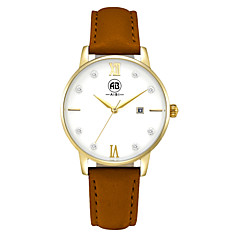 AIBI® Women's Watch Simple principle Imitation Diamond Calendar Water Resistant Golden Yellow Dress Watch Accessories Cool Watches With Watch Box