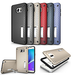 LOGROTATE®Grid Design Tough Armor Protective Back Case with Stand for Samsung Galaxy Note 5(Assorted Colors)