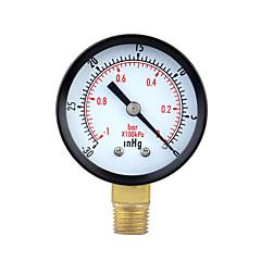 0~-30inHg 0~-1bar Mini Dial Air Pressure Gauge Meter Vacuum Manometer Double Scale
