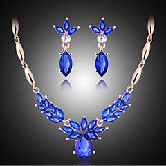 Kristal Kostuum juwelen Drop Oorbellen Ketting Voor Feest Giften van het Huwelijk