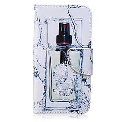 三星銀河S6エッジのための香水瓶パターンPU素材カードストラップケース/ S3 / s4mini / S6 / S5 / S4 / S6エッジ+