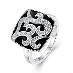 Xu™ Women's Diamonds 925 Silver Plated Ring(Color Preserving More Than A Year)