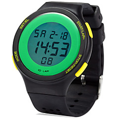 Masculino / Mulheres / Unissex Relógio Esportivo Digital LED Borracha Banda Preta / Branco / Marrom / Rosa / Amarelo marca-