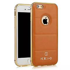 Linee cuoio hzbyc®luxury genuino metallo della pelle TPU telaio integrato per il iphone 6plus / 6s più