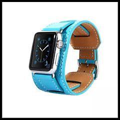 Zegarek na zegarek jabłkowy 38mmm 42mm pasek ze skóry wymiennej na nadgarstek z adapterem