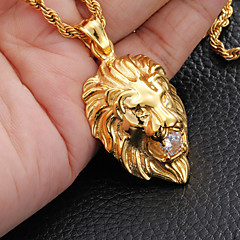 Necklace Pendant Necklaces Jewelry Party / Daily / Casual / Sports Fashion Stainless Steel Gold / Silver 1pc Gift