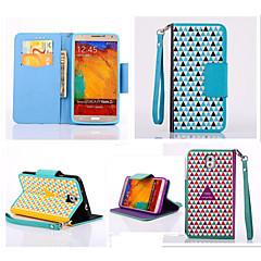 Varten Samsung Galaxy Note Korttikotelo / Lomapkko / Tuella / Flip Etui Kokonaan peittävä Etui Geometrinen printti Tekonahka SamsungNote
