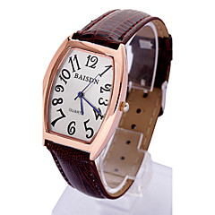 Couple's Fashion Wave Barrel Dial PU Band Quartz Analog Wrist Watch(Assorted Color) Cool Watches Unique Watches