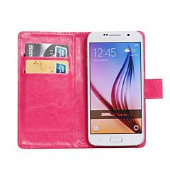 Varten Samsung Galaxy kotelo Korttikotelo / Tuella / Flip / 360° kierto Etui Kokonaan peittävä Etui Yksivärinen Tekonahka SamsungZ3 /