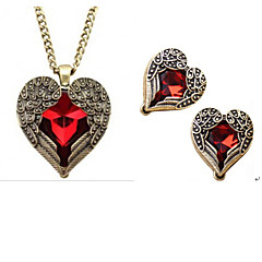 Dam Smycken Set Mode kostym smycken Örhängen Halsband Till Party Speciellt Tillfälle Födelsedag Bröllopsgåvor