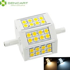 8W / 10W R7S Reflektory LED Do zabudowy 24 SMD 5060 650-800 lm Ciepła biel / Zimna biel Ściemniana AC 85-265 V 1 sztuka